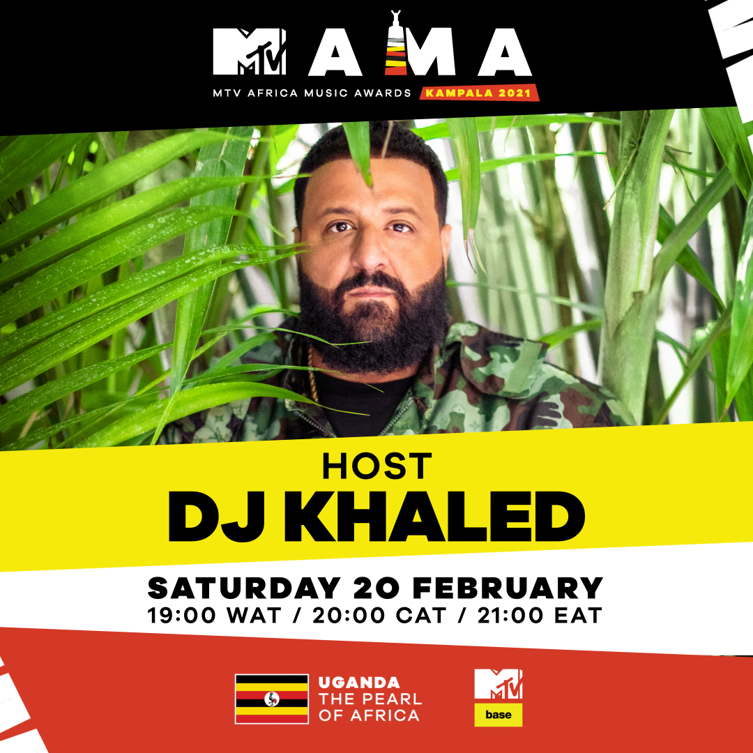 Grammy award-winning sensation, DJ Khaled is International Host for MTV Africa Music Awards (MAMA); Kampala 2021